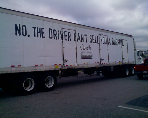 Funny trucks... Just another marketing strategy from Chipotle