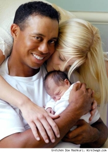 Tiger Woods and Elin Nordegren Woods